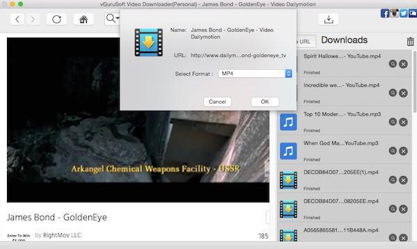 download James Bond movie on Mac