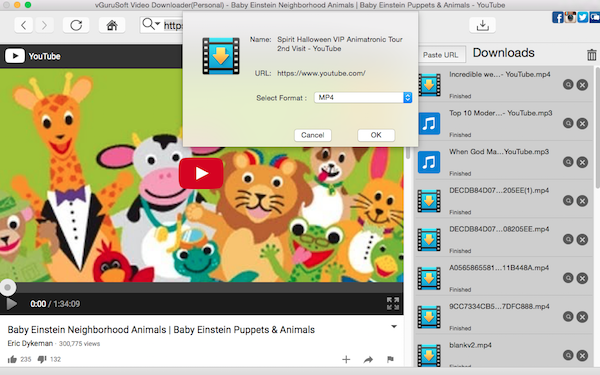 Download Learning Videos for Kids from YouTube on Mac