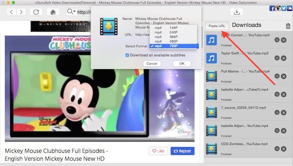 how to download Mickey Mouse videos Mac