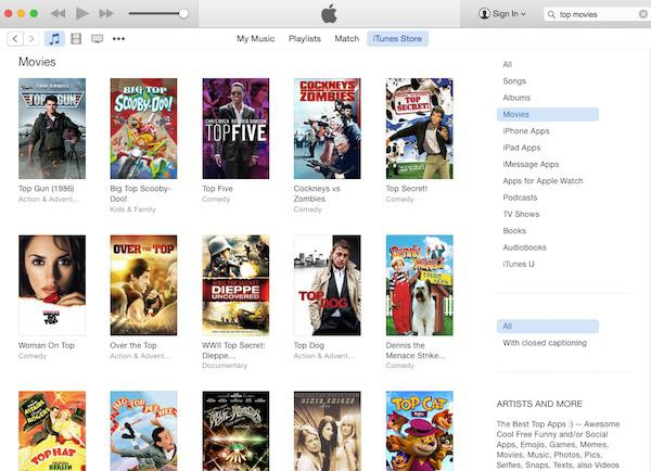 Download Top iTunes Movies for Free