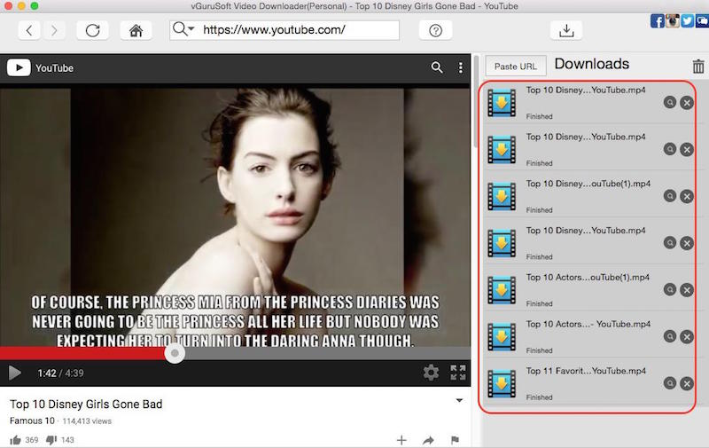 vGuruSoft Video Downloader for Mac 2.2.5